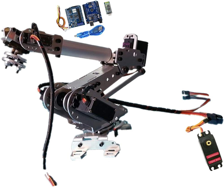 Baoblaze 6 DOF Alloy Robot Arm Claw Kit Gripper with Servo