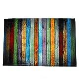 RainBabe Tapis de Bain Coloré Non-Slip Paillasson Entrée D'étage Tapis de Porte Avant Intérieur Antidérapant en Polyester