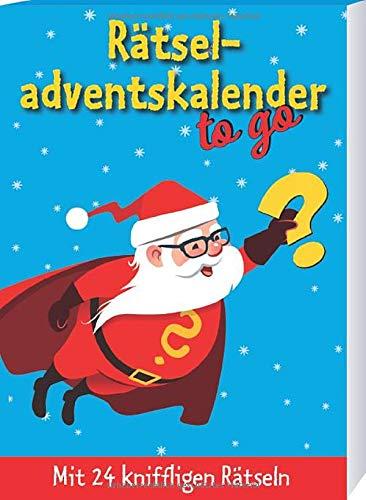 Rätseladventskalender to go 3: Mit 24 kniffligen Rätseln (Adventskalender für Erwachsene - 24 Rätsel)