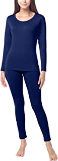 LAPASA Women's Thermal Underwear Long John Set Fleece Lined Base Layer Top & Bottom L17