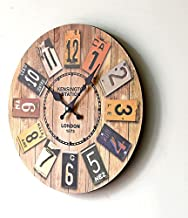 SKEIDO Retro Ancient Real Wood Clock Europe Style Home Decoration Digital Wall Clocks