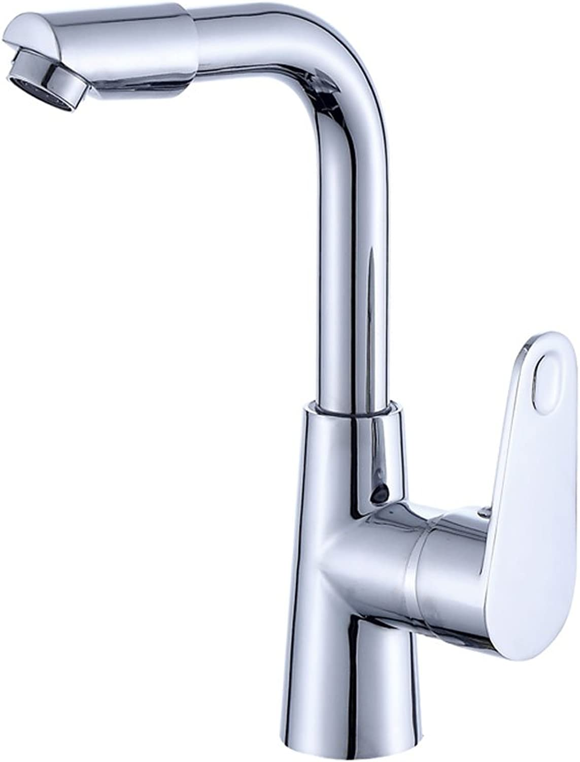Bathtub ZI LING SHOP- Wash Basin Hot And Cold Faucet Bathroom Cabinet Single Hole Single Cold Water Kitchen Sink