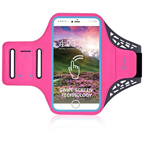 DFVmobile - Professional Cover Ultra-Thin Armband Sport Walking Running Fitness Cycling Gym for Oukitel U10, Kindo U10 - Pink