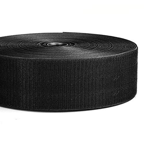 2와이드 16.4`오래 걸이와 반복 케이블 타이나 포장 코드를 잠그개 나일론 전원 코드 관리 WIRE ORGANIZER 스트랩 재사용할 수 있는 크기로 잘라 각자 매력적인 테이프 롤(블랙)
