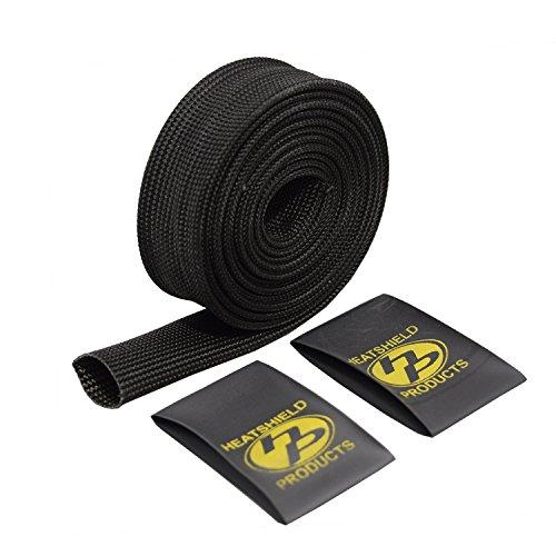 "Heatshield Products 204009 Black 5/8"" ID x 6' Brake Line Heat Shield Sleeve"