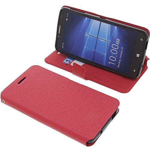foto-kontor Tasche für Alcatel One Touch Idol 4 Pro Book Style rot Schutz Hülle Buch