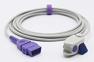 Compatible Armstrong Medical/BCI Reusable SpO2 Sensor Probe Pediatric Clip 9 Pins 9.8 ft Connector
