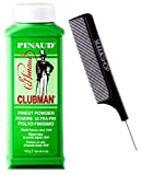 Pinaud Clubman Since 1810 FINEST POWDER Talc (w/Sleek Comb) Micro Fine, Control Dry, Itchy Skin, Zinc Oxide (FINEST, ULTRA-FIN - 4 ounce size)