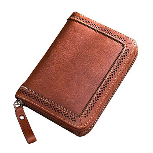 HQEFC Dames Kleine Portemonnee Korte Rits Echt Leer De Nieuwe Vintage Koeienhuid Mini Card Pakket Koreaanse Versie Gift Pakket Muntzak Hoge Capaciteit