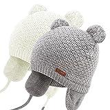 DRESHOW Cappello Bambino Berretti Neonato Ragazzi Ragazze Morbido Carino Orso Infantile Orecchio Berreto Caldo Cappello per Bambini per Autunno Inverno