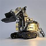 Kepae Kit Illuminazione Compatibile con Lego Technic, USB Alimentato Luci LED per Escavatore Liebherr R 9800 42100