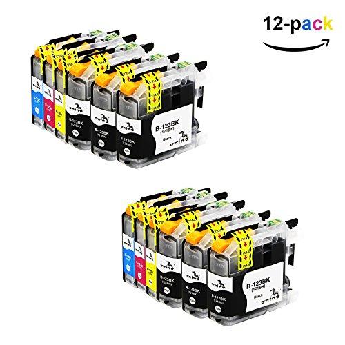 ONINO LC123 Cartuchos de Tinta Compatible para DCP-J132W J152W J552DW J752DWMFC-J650DW DCP-J4110DW MFC-J870DW MFC-J4410DW MFC-J4510DW MFC-J4610DW MFC-J4710DW MFC-J470DW MFC-J650DW MFC-J6520DW