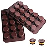 Enjoy your homemade Snack Size peanut butter cup. Cavity Size: 1.4 inch in diameter x 1 inch deep. Mold Size: 9.5 x 5.1 x 1 inch. Temperature tolerance from -40 to +446 degrees Fahrenheit (-40 to +230 degrees Celsius). Compatible with oven, freezer, ...
