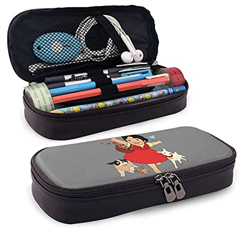 Heidi, The Girl from The Alps Multifunctional Pu Leather Pencil Case with Double Zipper Closure - Carrying Case for School Office
