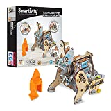 Best gift for 8-12 yr girls and boys build play learn 198 parts build time 180 min stem concepts gear train walking mechanism and drop cam mechanism No mess no tools needed for assembly for a clean mess free home elastic bands joinery, easy to disass...