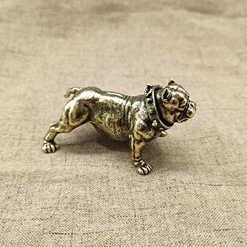 YXYSHX Sculpture Stand Fashion Pure Copper French Bulldog Statue Desk Ornament Decoration Crafts Accessories Metal Brass Cute Dog Figurines Home Decors