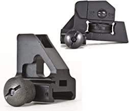 Green Blob Outdoors Front and Rear Iron Sights Set Picatinny 20mm Rail for Flat Top Rails