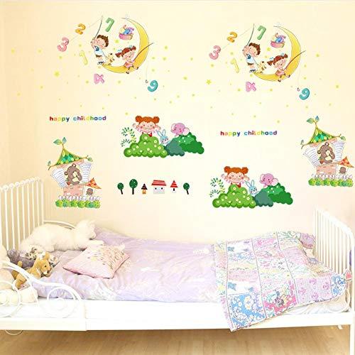 N/A dier maan baby 3D muurstickers van PVC, eenvoudig te plakken, voor keuken, woonkamer, huisdecoratie, zal niet vervagen, verjaardagscadeau voor kinderen