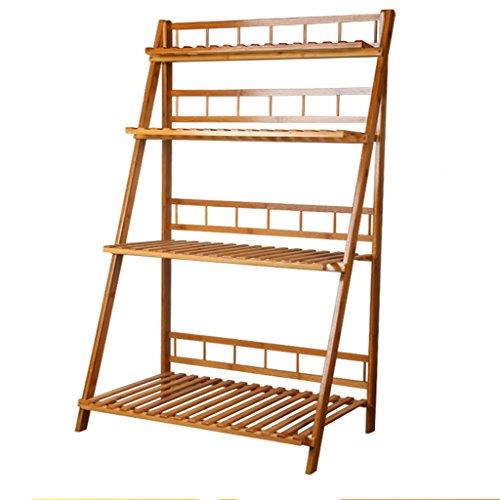 MILUCE Porte-Fleurs en Bambou, Multi-Niveaux, Pliable, Multifonctionnel, extérieur/Balcon (Taille : 110cm)
