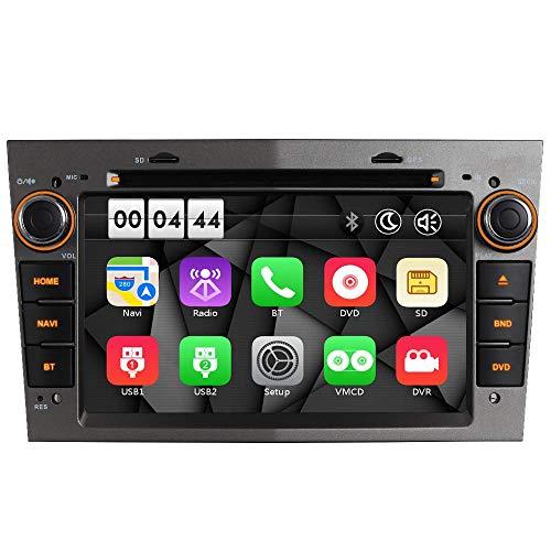 "7\"" DVD Autoradio MIT 16GB-SD DAB+ 3G+ Virtueller-CD-Wechsler(VMCD) Mirrorlink GPS Navigation USB Bluetooth CD Dual-Zone Subwoofer FM RDS SWC für OPEL Zafira B Astra H Corsa C D Meriva Vivaro (Grau)"
