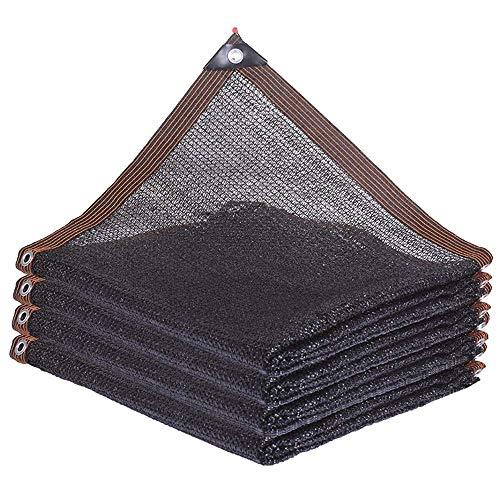 HTL Durable 3-Pin Parasol Neto, Espesado de Aislamiento de Calor Neto, Utilizado para la Sombrilla de Tela de Balcón, Aire Libre Y la Fábrica. la Tasa de Sombreado Es de 50% ~ 60%,Negro,3M * 6M