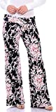 Popana Womens Casual Print Palazzo Pants Plus Size Made in USA Large ST57 Floral