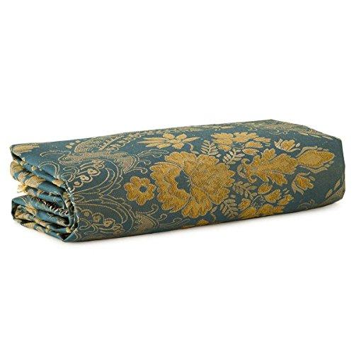 Caritex Scampolo Tessuto Damascato Dis. Fiori 270x280 cm N045 Blu