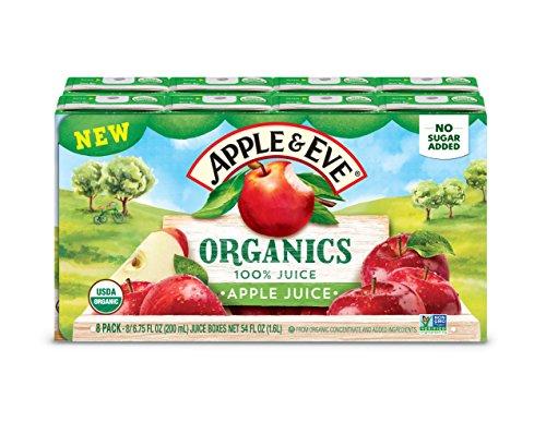 Apple & Eve Organics Apple Juice, 6.75 Fluid-oz, 40 Count