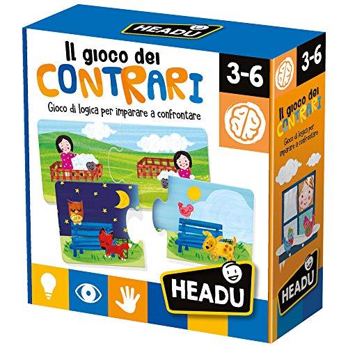 Headu - El Juego de los contrarios educativos, Multicolor, IT20584.
