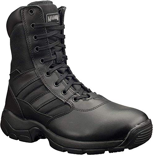 Magnum M800339-021 Panther 8 - Botas laterales con cremallera, color negro, talla 7