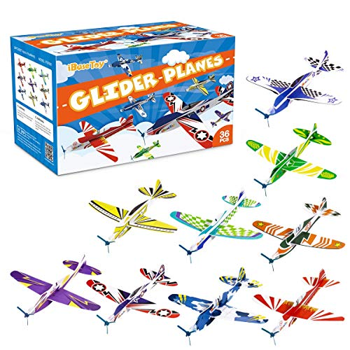 iBaseToy 36 Pack Glider Planes for Kids - 8