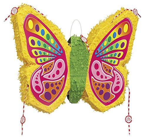 Unique Party 66230 - Pignatta a Forma di Farfalla Colorata