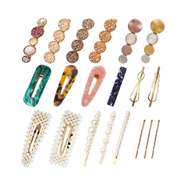 Beauty Shopping Hair Clips for Women and Girls 20Pcs – Fashion Korean Style Pearls Hair Barrettes