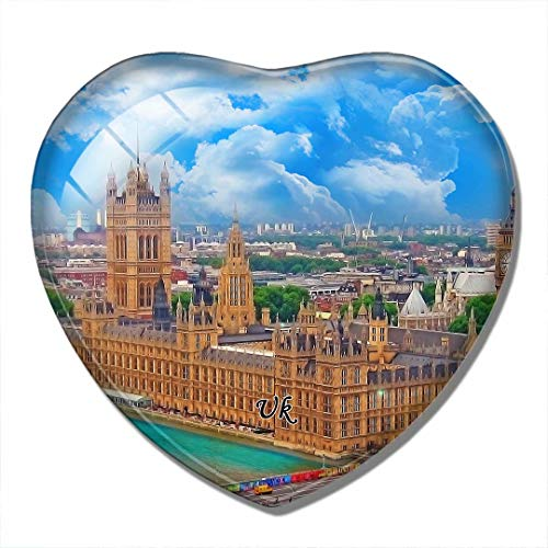 'N/A' Großbritannien Magnet Großbritannien England Houses of Parliament London 3D Kühlschrank Magnet Handwerk Souvenir Kristall Kühlschrank Magnete Sammlung Reisegeschenk