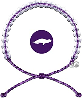 Bracelet with Charm Made from 100% Recycled Material Upcycled Jewelry (Purple)