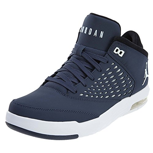 Nike Herren Jordan Flight Origin 4 Basketballschuhe, Mehrfarbig (Thunder Blue/White), 40.5 EU