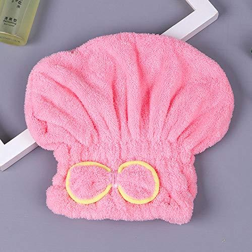 LLQM Bonnet Cheveux secs Femmes, Absorbant et séchage Rapide, Joli Bandeau Noeud Papillon, Bonnet de Douche Super Solide, Serviette sèche Cheveux