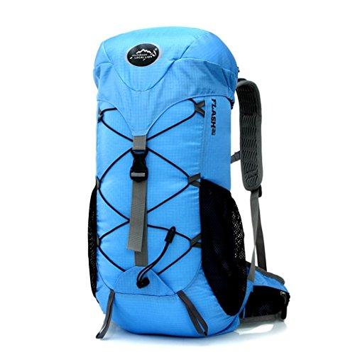 Local Lion borsa zaino unisex da spalla sportivo outdoor campeggio escursionismo viaggio blu