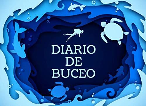 Diario de Buceo: Cuaderno de registro para 50 Inmersiones- Formato 20,96 x 15,24 cm con 102 Páginas - Libro de Inmersiones para Buceadores