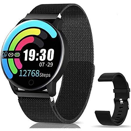 Smartwatch Reloj Inteligente IP67 con Presión Arterial, Pulsómetro, Monitor de Sueño, Notificaciones Inteligentes,10 Modos de Deporte, Smartwatch ...
