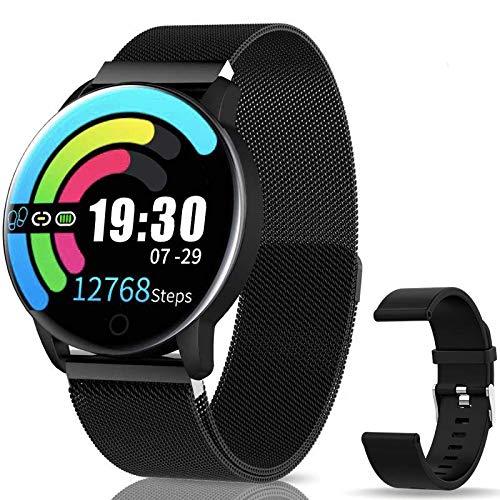 Smartwatch Reloj Inteligente IP67 con Presión Arterial, Pulsómetro, Monitor de Sueño, Notificaciones Inteligentes,10 Modos de Deporte, Smartwatch Compatible con iOS y Android para Hombre Mujer