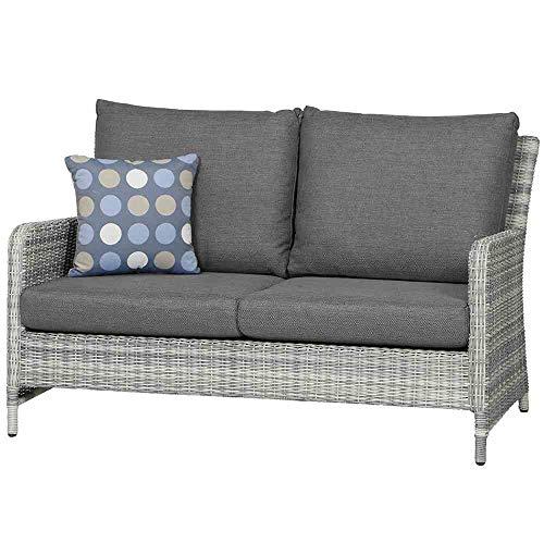 Siena Garden Soria Lounge 2er Sofa, grau