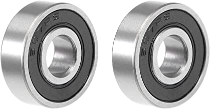 uxcell 607-2RS Deep Groove Ball Bearing 7x19x6mm Double Sealed Chrome Steel Bearings 2-Pack
