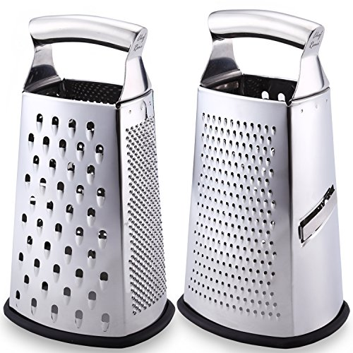 top rated The latest box graters are the No. 1 stainless steel graters for hard and soft cheeses, vegetables and more. 2020
