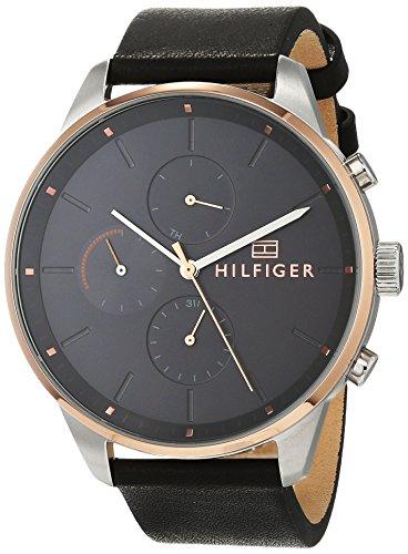 Tommy Hilfiger Unisex Multi Zifferblatt Quarz Uhr mit Leder Armband 1791488