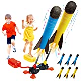Betheaces Duel Rocket Launcher Toy for Kids - Shoot Up to 100 Feet Outdoor Air Rocket Toys Gift for...