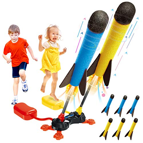Betheaces Duel Rocket Launcher Toy for Kids - Shoot Up to...