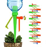 LAVIZO 【New Upgrade】 Plant Self Watering Spikes Devices with Slow Release Control Valve Switch Automatic Irrigation Drip Watering System, for Preventing Stop Water with Anti-Tilt Bracket-12PACK