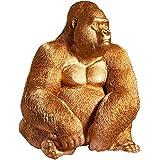 芸術石像からの詳細なゴリラ置物kong xl 75cmゴールドモンキー彫刻