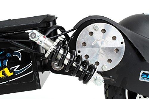 SXT scooters Trottinette lectrique 1600 XXL 1600w Brushless Blanche Batterie Plomb 48V 12Ah